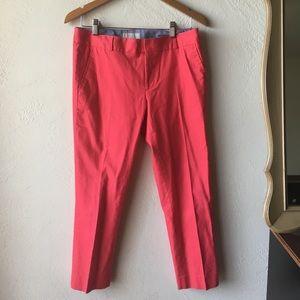 Pink cropped pants by Banana Republic